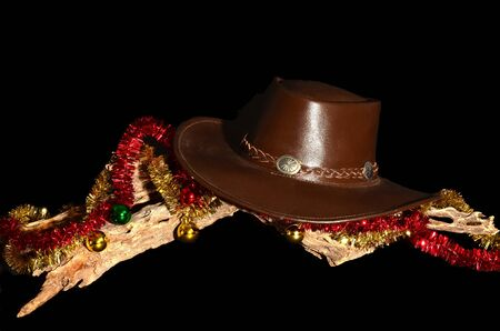An American style representation of a cowboy Christmas