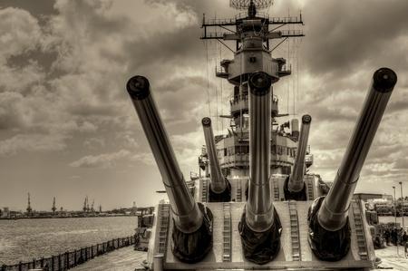 USS Missouri - decommissioned battleship USA in Pearl Harbor Hawaii
