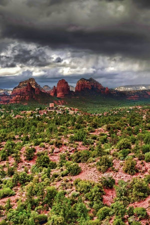 Storm forming over Sedona Arizona Stock Photo - 15779980