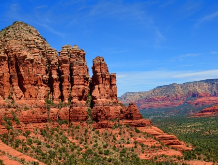 geological formation: Aerial view Sedona Arizona red rock country