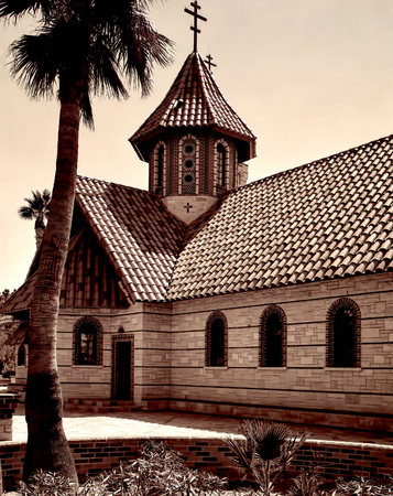 Old style image of Greek Orthodox Chapel photo