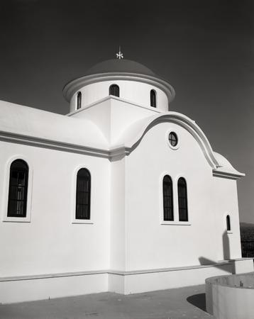 Black and white of Greek Orthodox Chapel