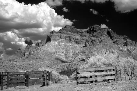 sonora: Corral in The Sonora desert in central Arizona USA