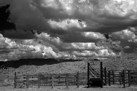 sonora: Corral in The Sonora desert in central Arizona USA