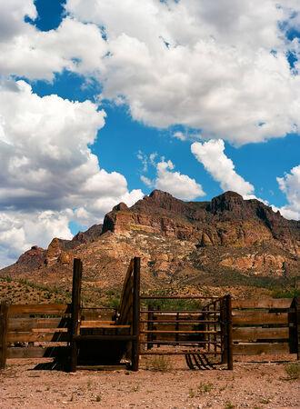 sonora: Corral Sonora desert in central Arizona, USA