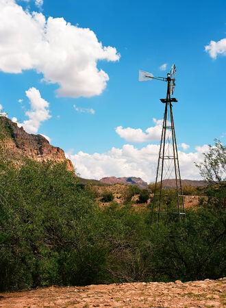 sonora: Windmill Sonora desert in central Arizona, USA