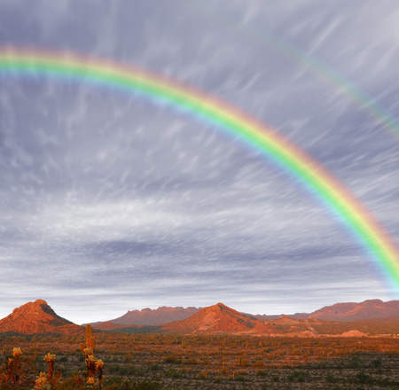 Rainbow Red Rock country mountains in south east Arizona