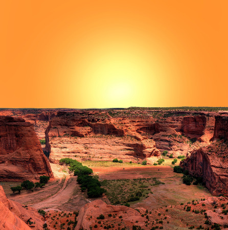 indian artifacts: Sunrise at Canyon de Chelly Navajo indian reservation northern Arizona