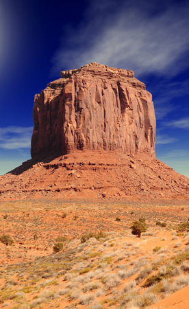 large formation: Large stone formation in Monument Valley Arizona