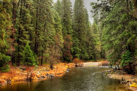 merced: Merced River Yosemite Valley National Park California in autumn