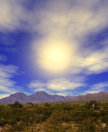 sonora: The Sonora desert sun in central Arizona USA