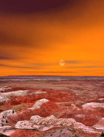 desert storm: Storm clouds forming over the Painted Desert in Arizona