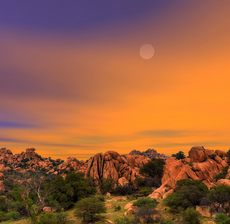 nature: Sunset skies in Texas Canyon in Southeast Arizona