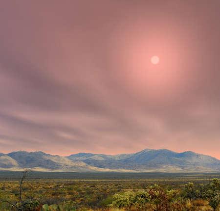 sonora: Sunrise in The Sonora desert in central Arizona USA Stock Photo