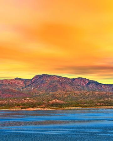 roosevelt: Sunrise over Roosevelt lake Arizona