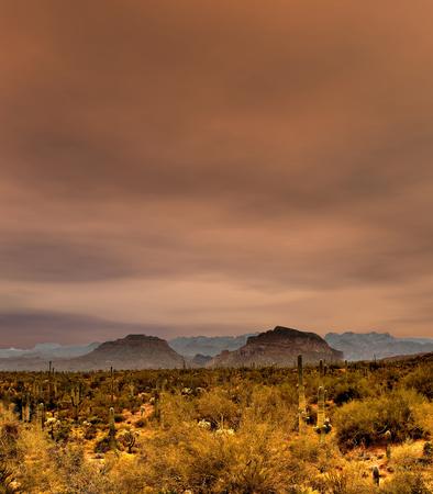sonora: Sonora desert mountains in central Arizona USA
