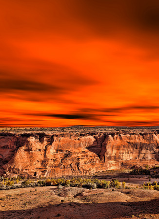 indian artifacts: Sunrise Canyon de Chelly Navajo indian reservation northern Arizona