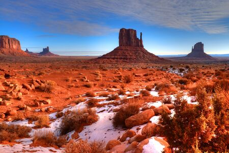 Monument Valley Arizona site of many cowboy western movies Stock Photo