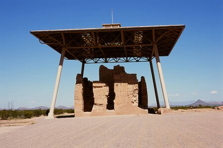 columbian: Casa Grande Ruins National Monument of the Pre-columbian Hohokam Indians in Arizona USA
