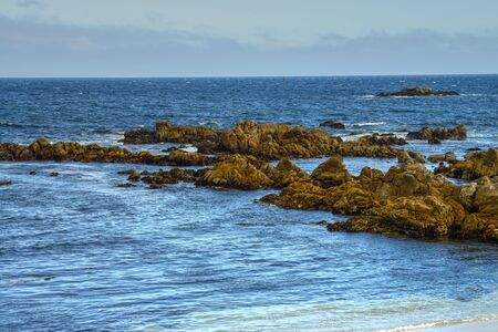 Rock breakers Asilomar State Marine Reserve California