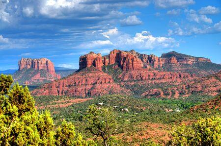 cholla: Red Rock country mountains surrounding Sedona Arizona