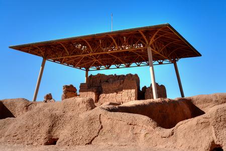 Casa Grande Ruins National Monument of the Pre-columbian Hohokam Indians in Arizona USA