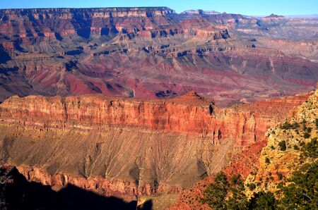 Late afternoon in the Grand Canyon Arizona Stock Photo