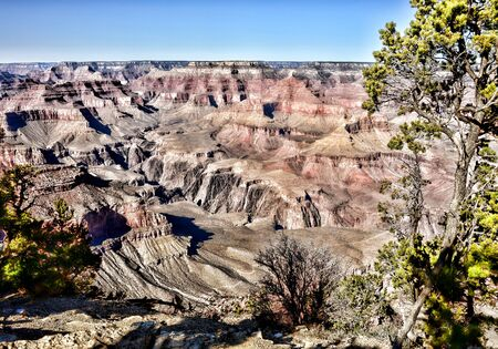 geological formation: Late afternoon in the Grand Canyon Arizona