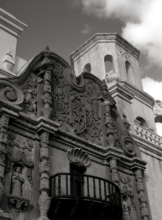 Old Spanish mission san Xavier del Bac built in 1692
