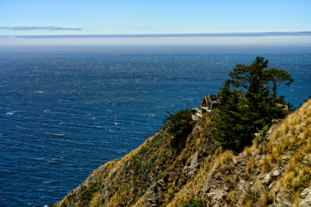 pacific ocean big sur california cloudy day stock photo picture and