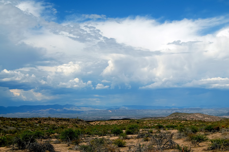 Arizona Storm forming over the southwest desert mountains Stock Photo