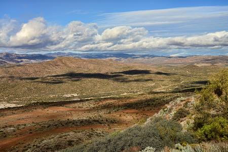 Foothills of Arizona between the Sonora Desert and the high plains desert