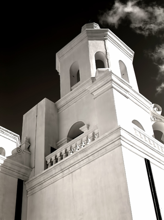 Detail Spanish mission San Xavier del Bac started in 1692 by Spanish missionaries in the Americas