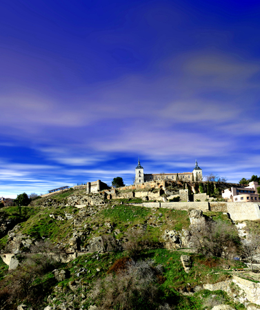 The city of Toledo Spain on a beautiful day Imagens