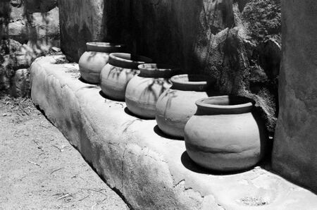 Seed pots Ruins at Tumacacori Mission in southern Arizona founded by Father Eusebio Francisco Kino