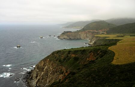 Cool and foggy morning at Big Sur California
