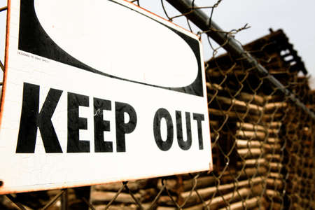 Keep Out Sign photo