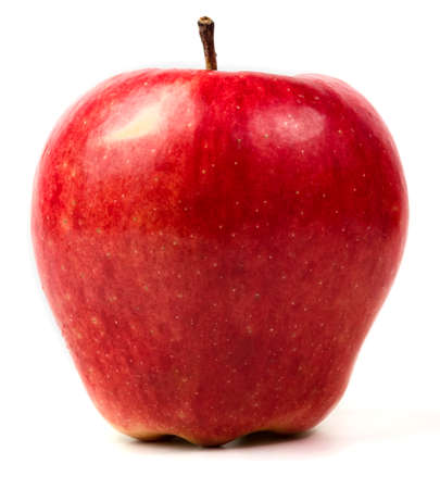 red apple isolated on white background.  Archivio Fotografico