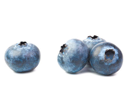 blueberry fruits closeup isolated on white blackground. Archivio Fotografico