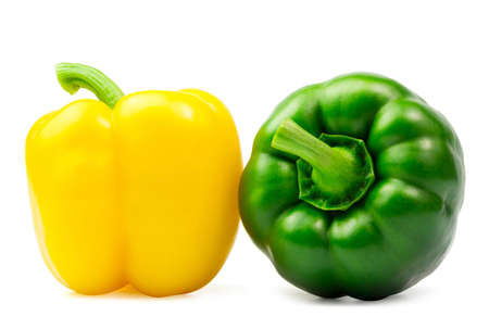 sweet peppers isolated on white background.