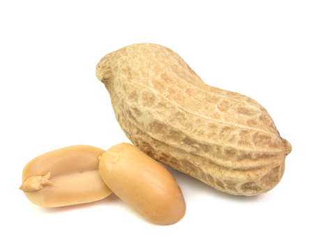 peanuts snack isolated on white background Archivio Fotografico