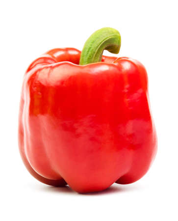 fresh sweet pepper isolated on white background. Archivio Fotografico
