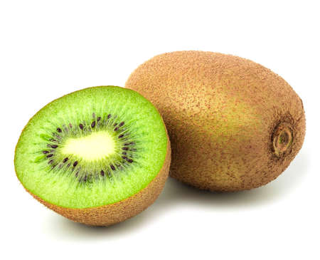 kivi fruits isolated on white background. Stock Photo