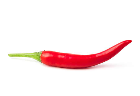 red spicy chili pepper isolated on white background.
