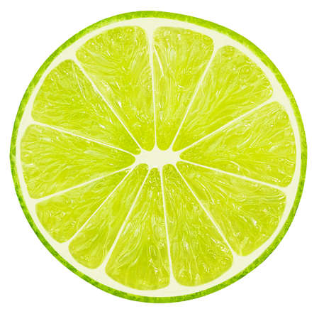 lime scliced isolated on a white background.