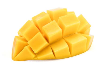 mango sliced isolated on a white background.