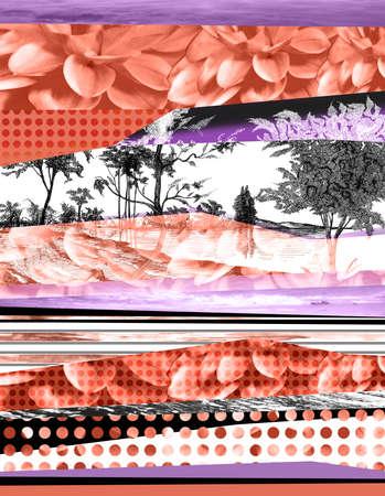 patchwork: flower and landscape patchwork