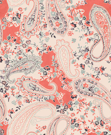paisley: paisley composition in abstract background