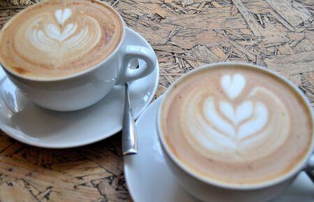 Koffie met liefde voor 2 Stockfoto