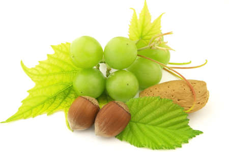 Grapes and nuts photo